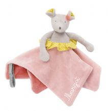Mademoiselle et Ribambelle - Doudou Attache Tétine Souris à Broder - Moulin Roty